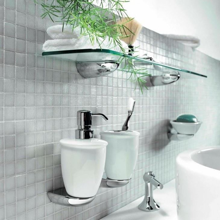 Аксессуары для ванной комнаты: советы по выбору, интересные фото идеи