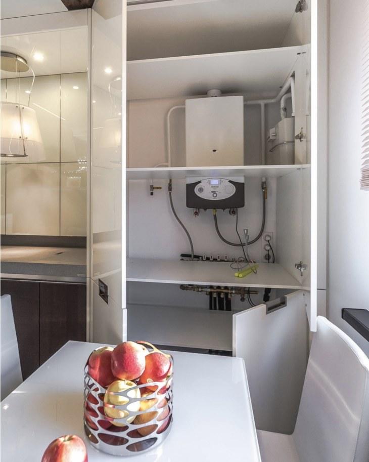 Как спрятать вентиляционную трубу на кухне