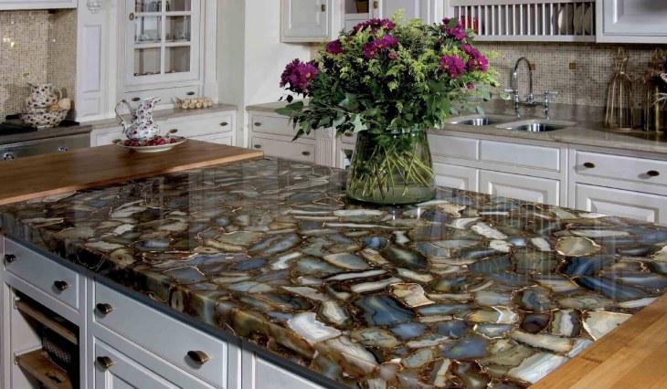 Столешницы для кухни - 85 фото-идей как выбрать и применить столешницу