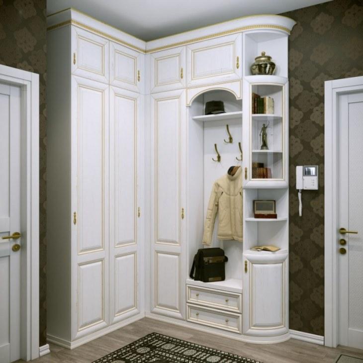 Встраиваемые прихожие 55 фото идеи дизайна встроенной мебели в нишу маленькая конструкция своими руками