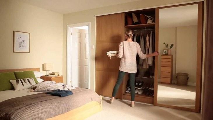 Шкаф-купе в спальню 126 фото встроенный угловой дизайн с внутренними размерами