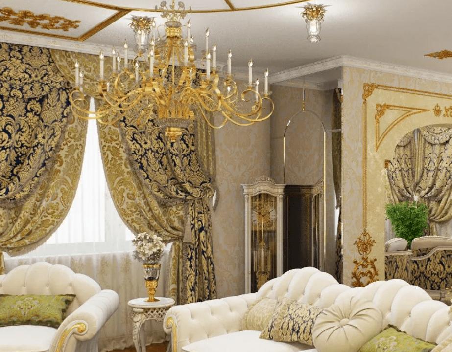 Гостиная в стиле барокко 2021 в квартире