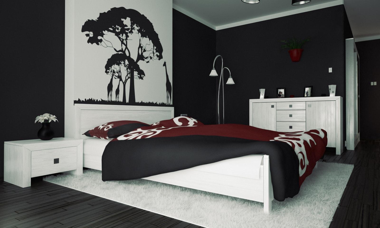 черно-белая спальня 10