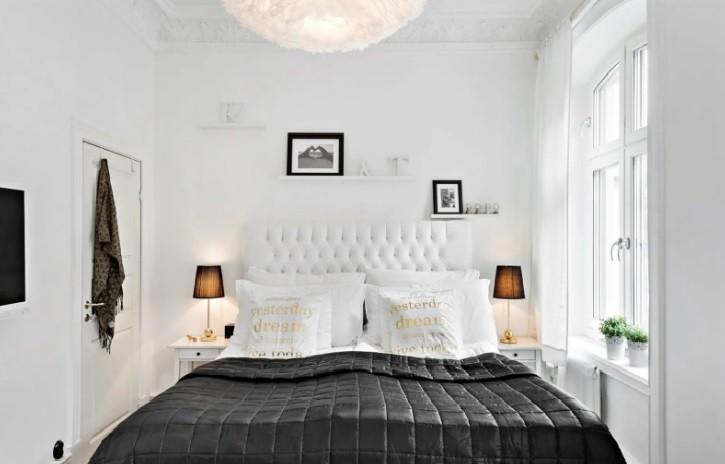 черно-белая спальня 16