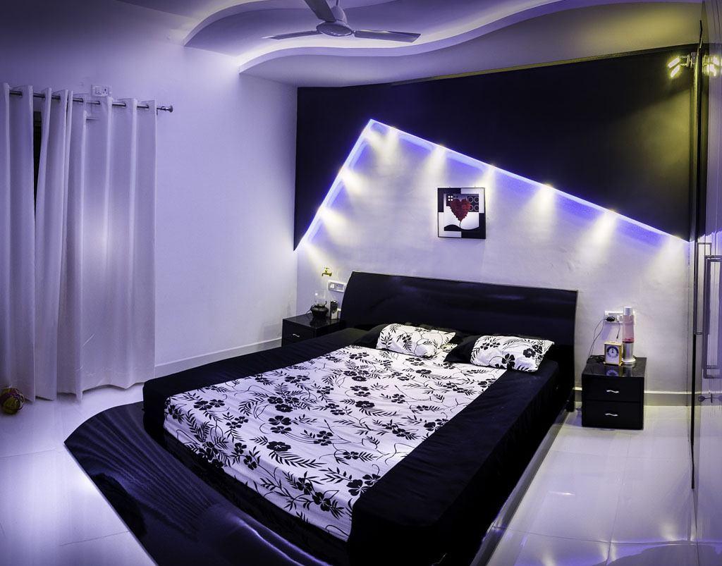 черно-белая спальня 17