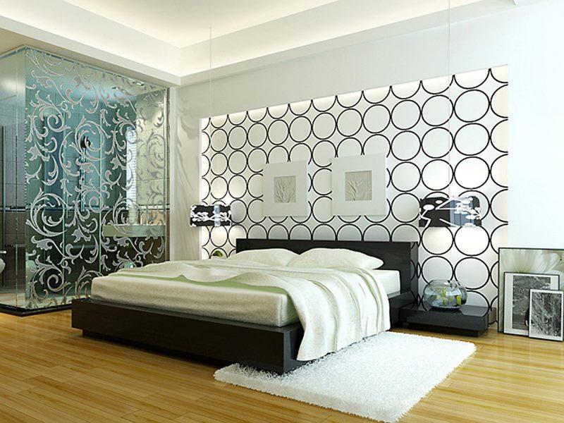 черно-белая спальня 19