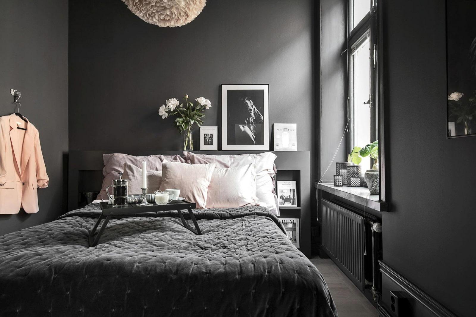 черно-белая спальня 2