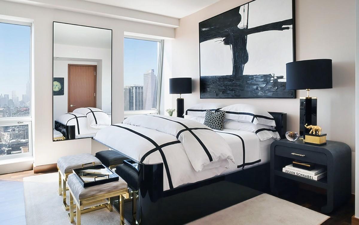 черно-белая спальня 22