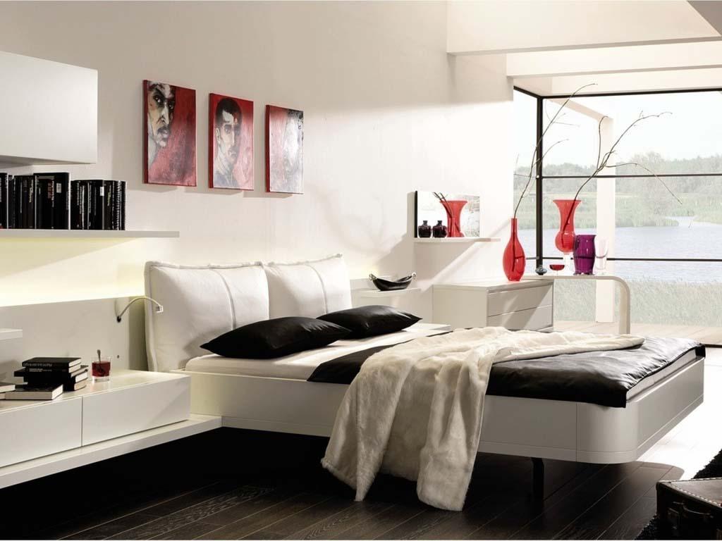 черно-белая спальня 25