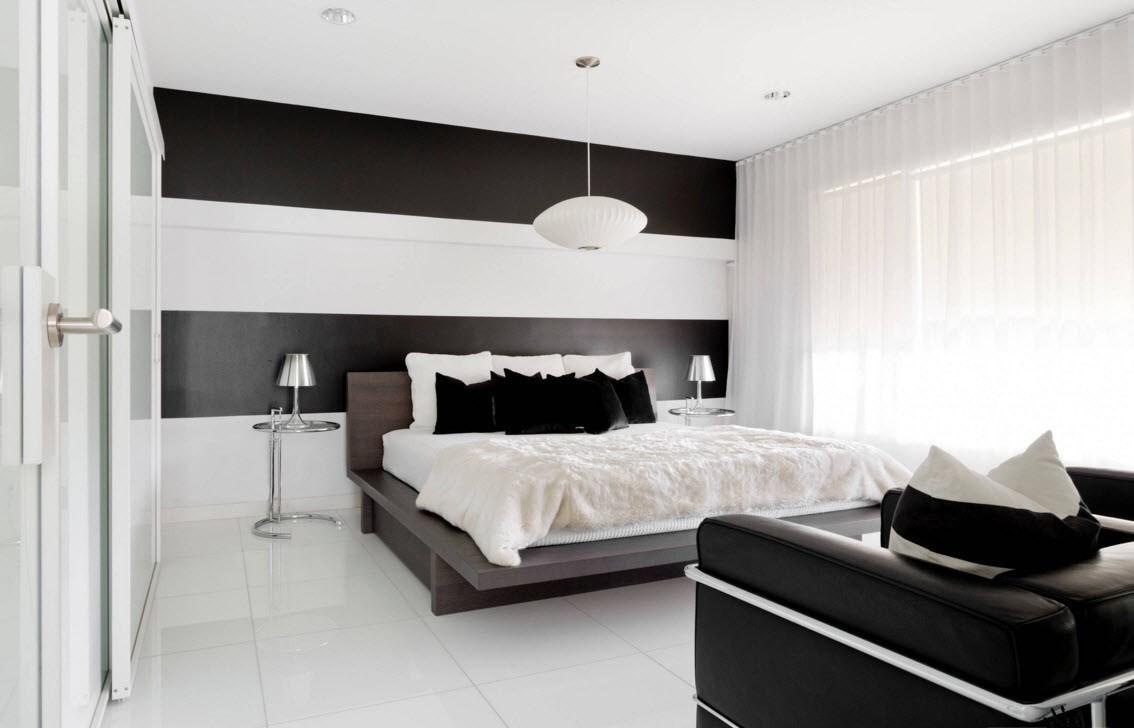 черно-белая спальня 3