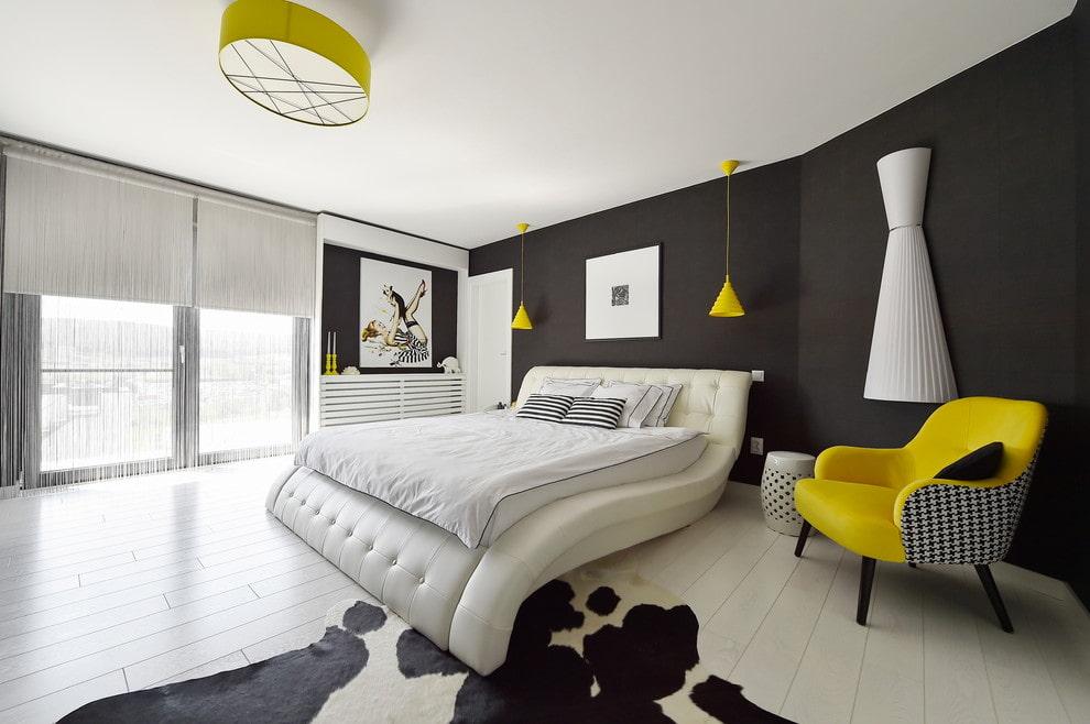черно-белая спальня 9