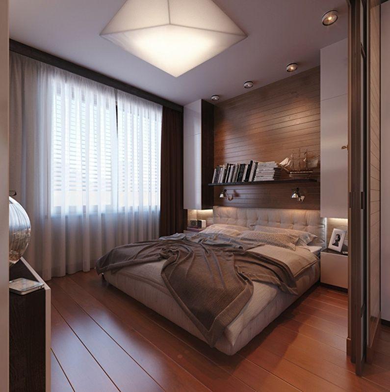 Дизайн маленькой спальни 6 кв. м для двоих