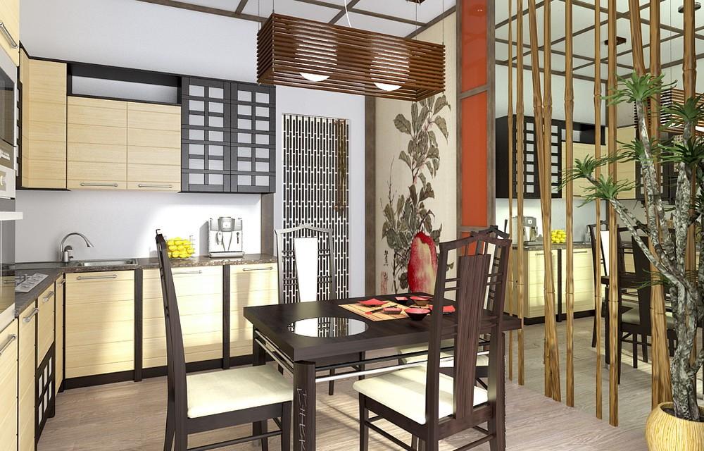кухня в японском стиле 1