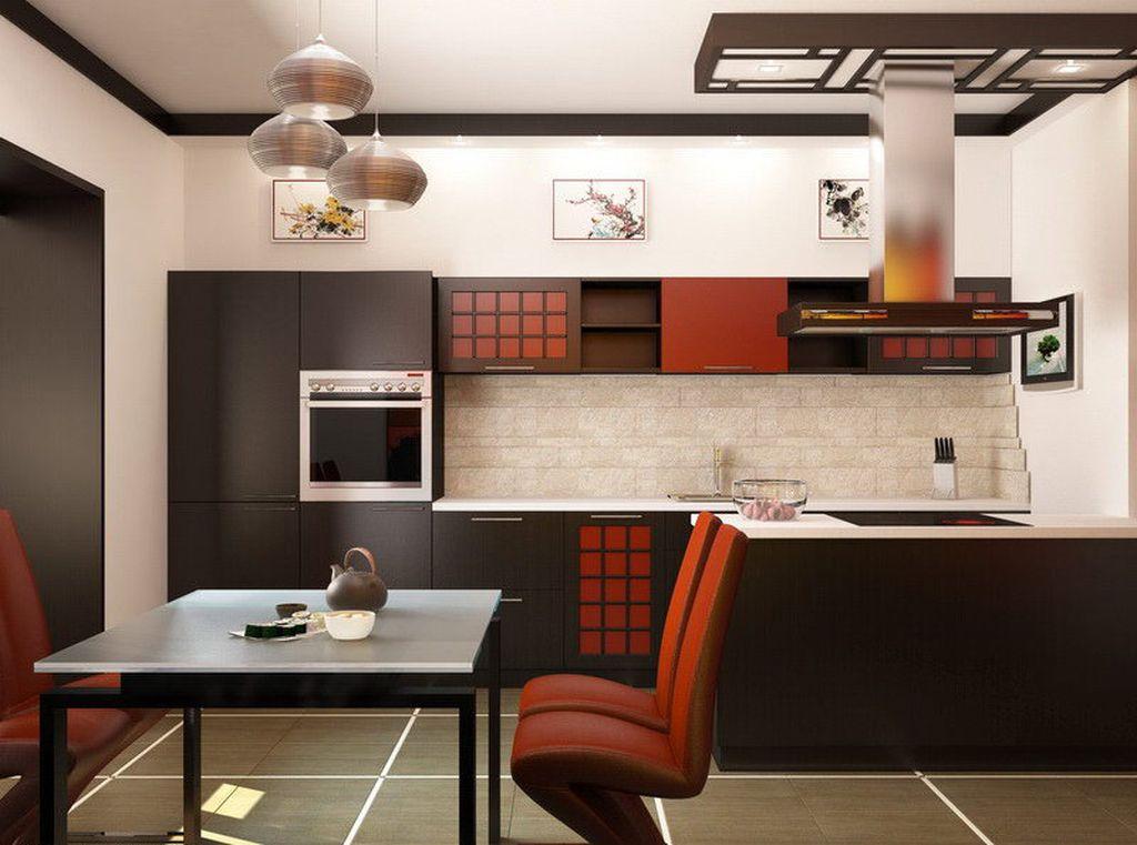 кухня в японском стиле 12