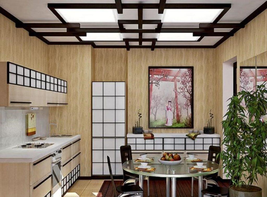 кухня в японском стиле 13