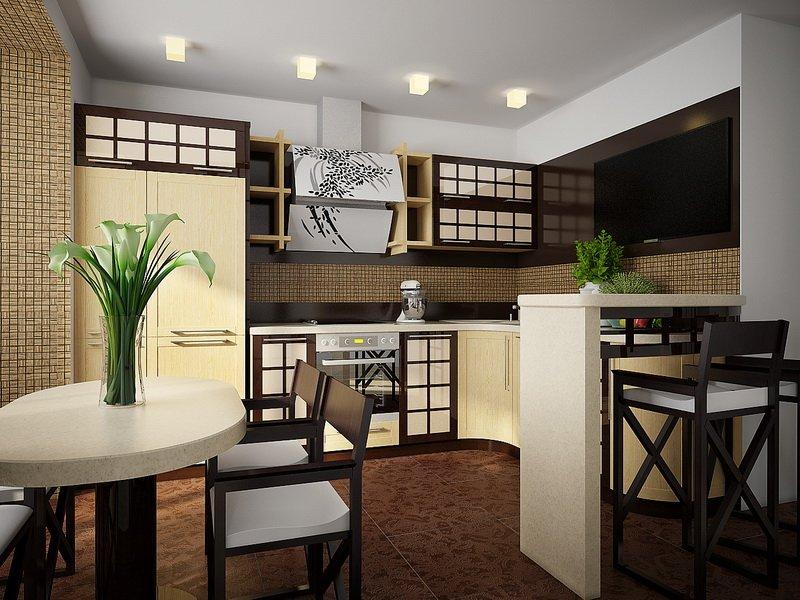 кухня в японском стиле 16