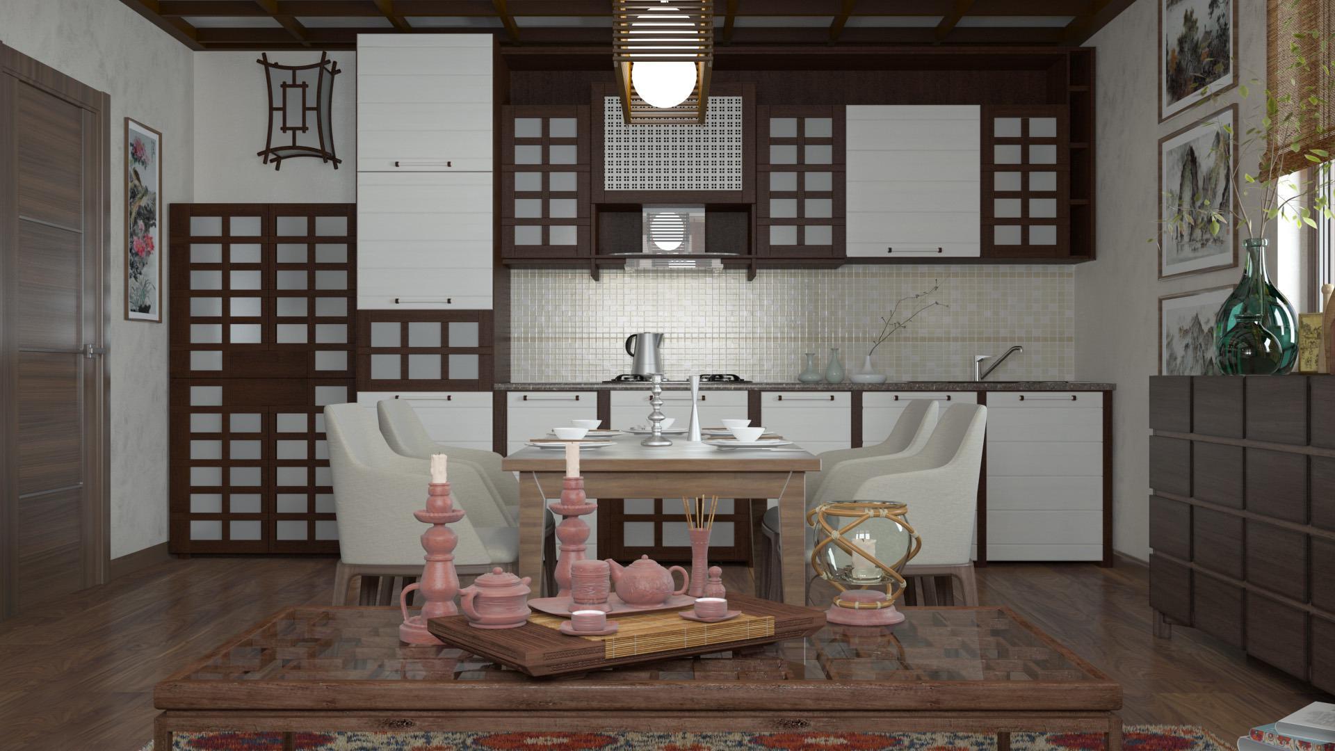 кухня в японском стиле 17