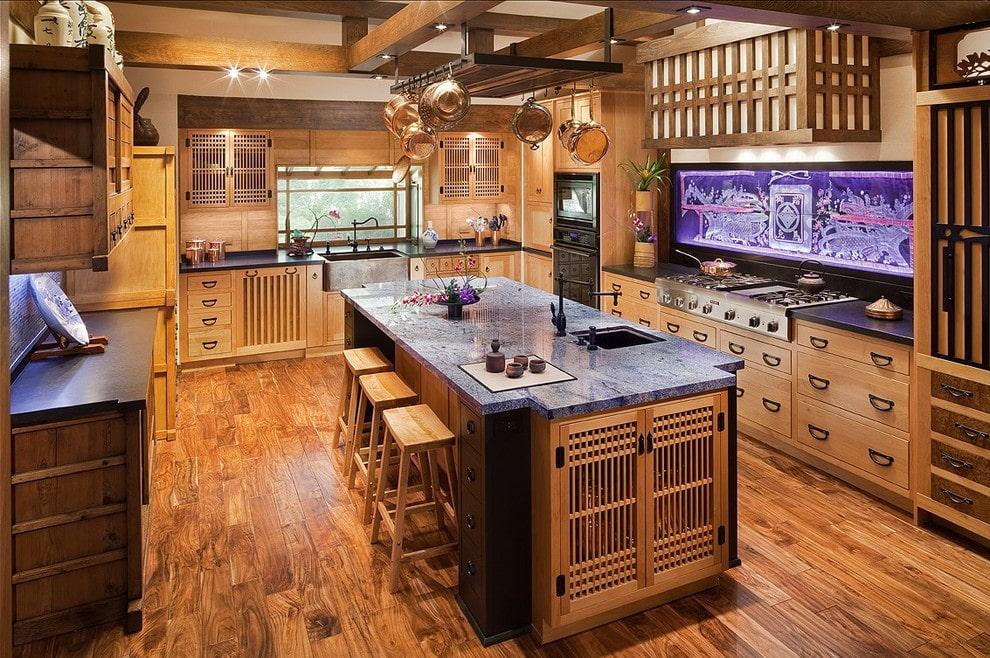 кухня в японском стиле 20