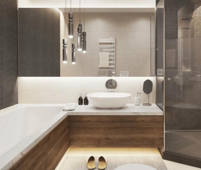 Современный дизайн ванной комнаты 5 квадратных метров 2021