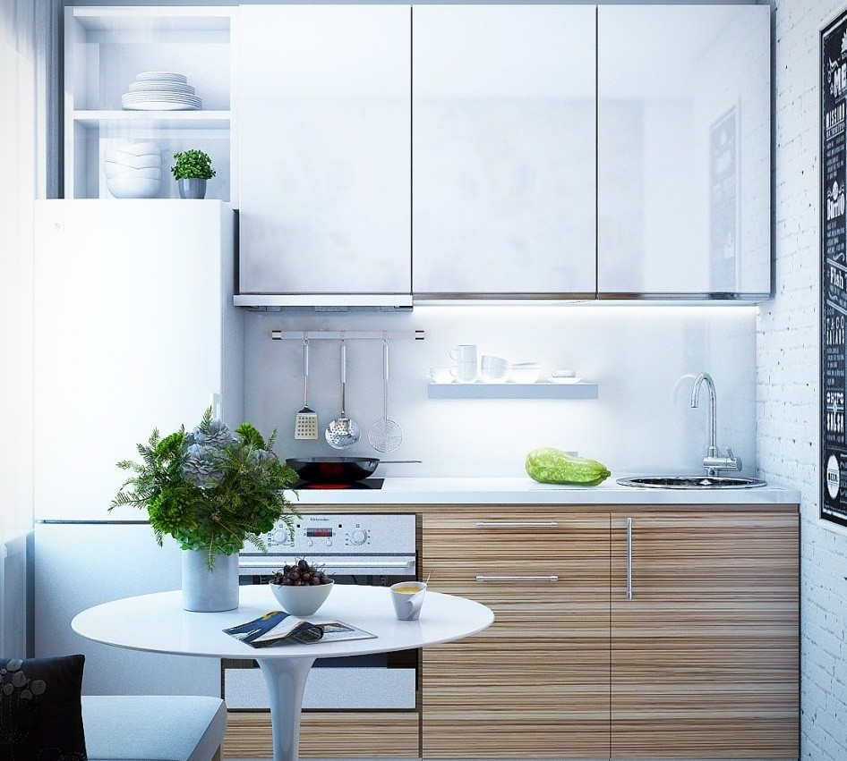 маленькая кухня 6 квм - 13