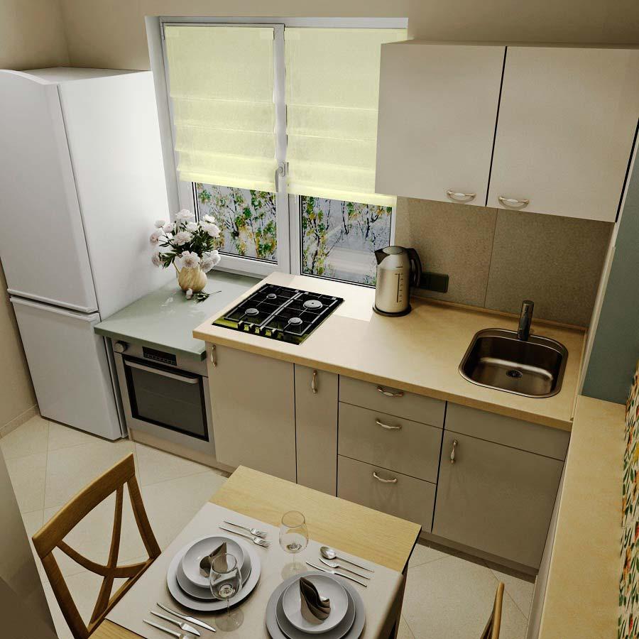 маленькая кухня 6 квм - 29
