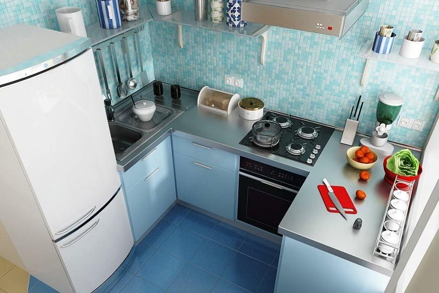 маленькая кухня 6 квм - 7