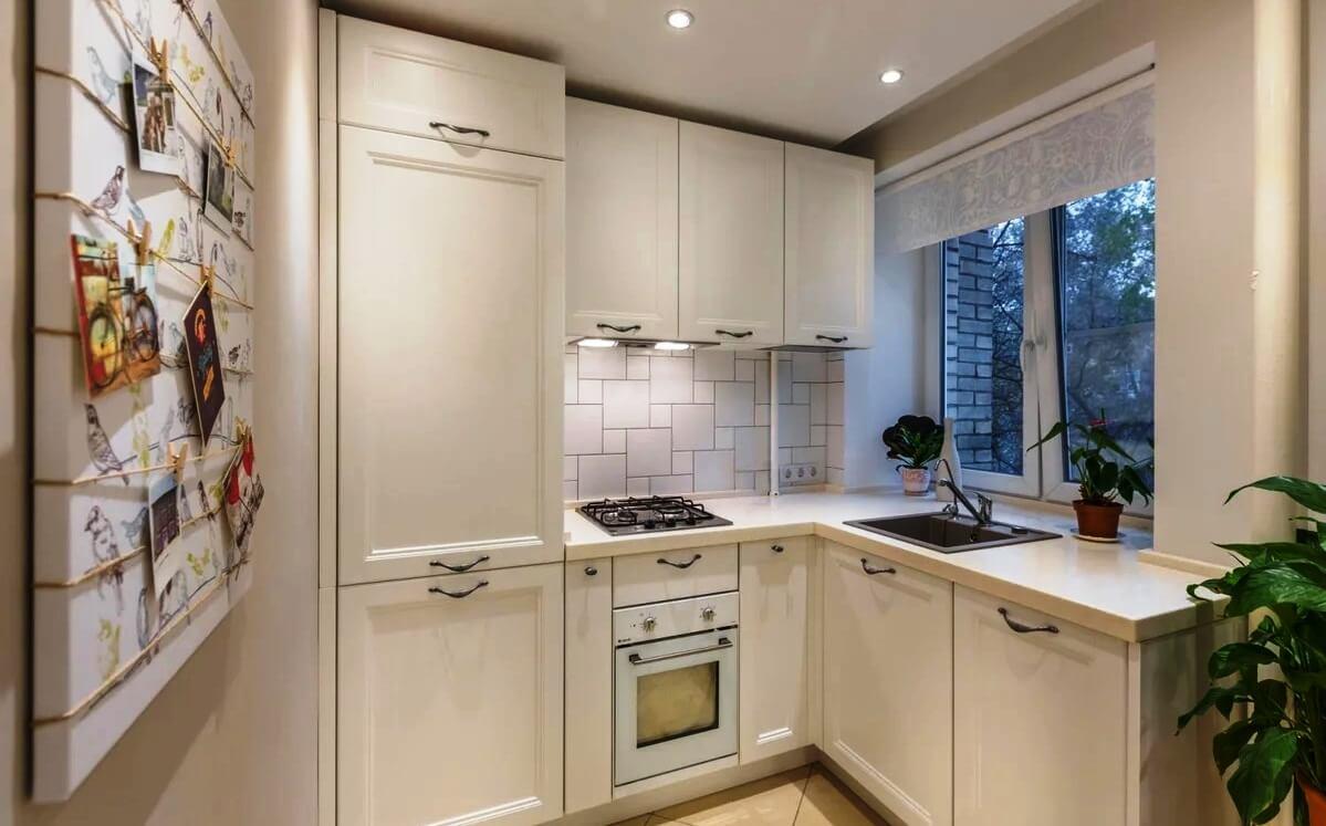 маленькая кухня 6 квм - 8