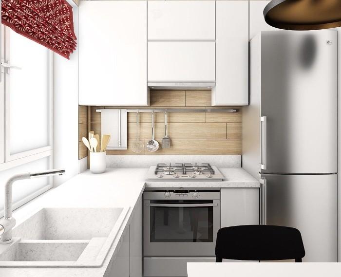маленькая кухня 6 квм