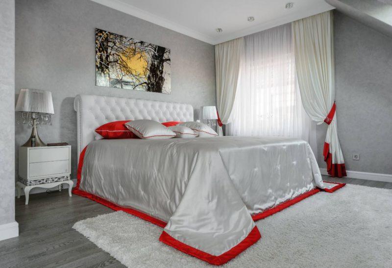 Серый ламинат в интерьере квартиры