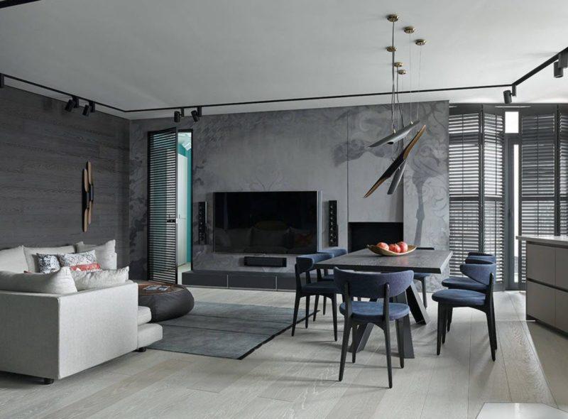 Серый ламинат в разных стилях