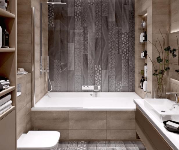 Модные тренды в дизайне маленькой ванной комнаты