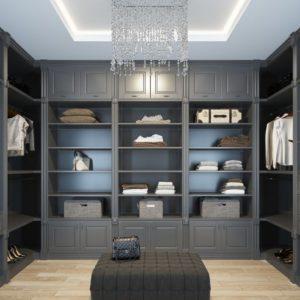 Дизайнерские идеи гардеробной комнаты 2022 года