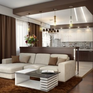Дизайнерские решения и новые тренды кухни, совмещенной с гостиной, в 2022 году